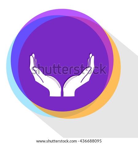 human hands. Internet template. Vector icon. - stock vector