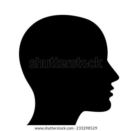 Head Silhouette Stock ...