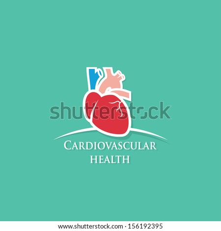 Human heart health care symbol - vector illustration - stock vector