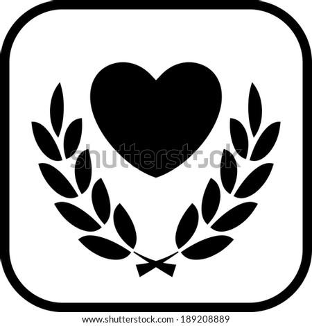 Human heart health vector icon - stock vector