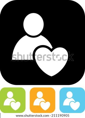 Human heart vector icon - stock vector