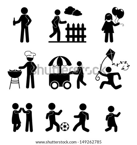human icons over white background vector illustration  - stock vector