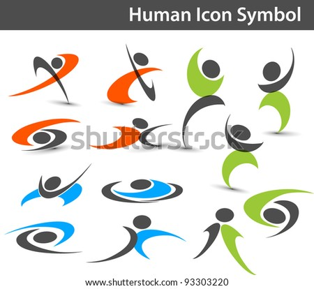 human icons. Vector - stock vector
