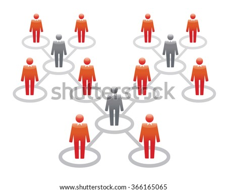 Human Icons. Vector Illustration. Office team and Leader. - stock vector