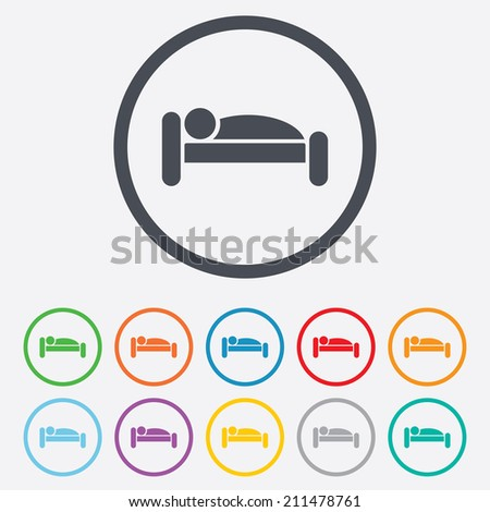 zzz icon  Human in bed sign