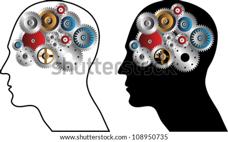 Human intelligence - stock vector