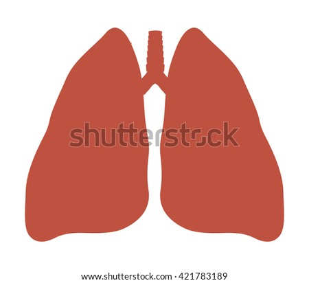Human Lung anatomy diagram.