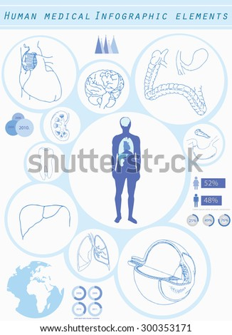 Human medical infographic elements  - stock vector