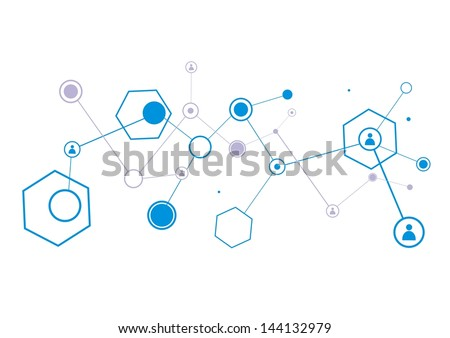Human model connection - stock vector