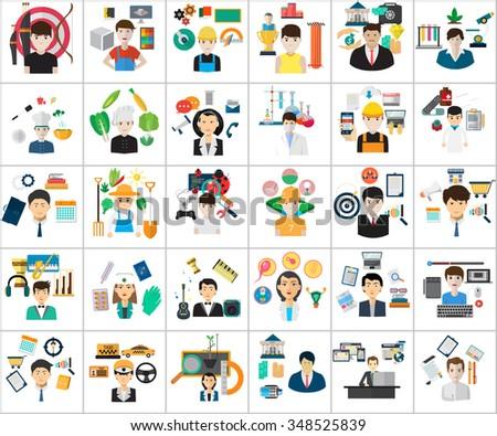 Human Profession Concept - stock vector