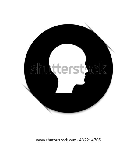 human profile picture  - black vector icon