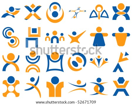 Human Related Vector Designs - stock vector