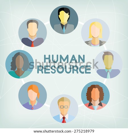 human resource - stock vector