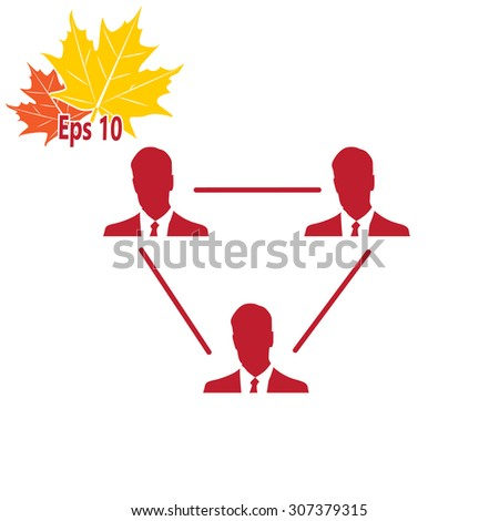 Human resource and management icon set - stock vector