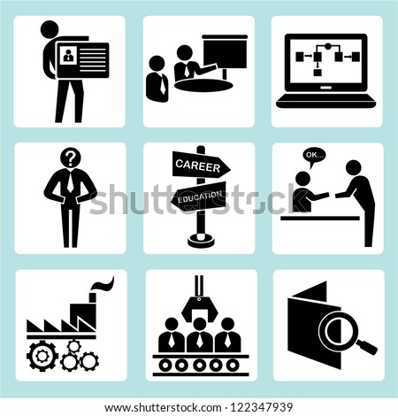 human resource and organization development - stock vector