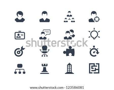 Human resource and strategy icons - stock vector