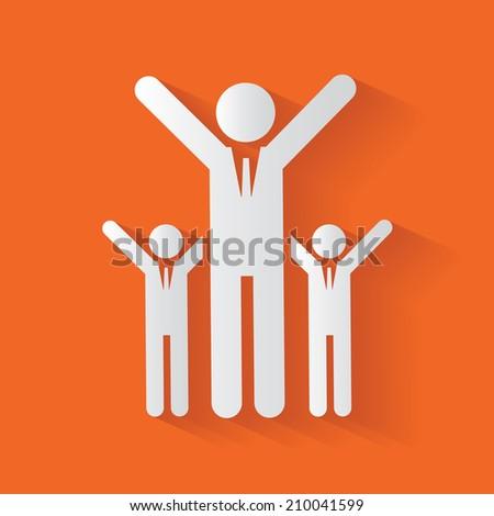 Human resource,clean vector - stock vector