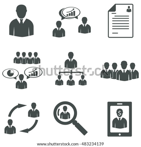 Human resource concept/Illustration vector.