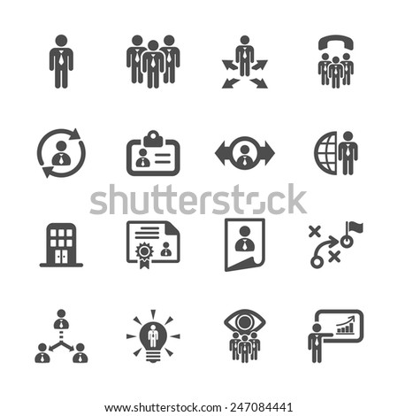 human resource management icon set 2, vector eps10. - stock vector