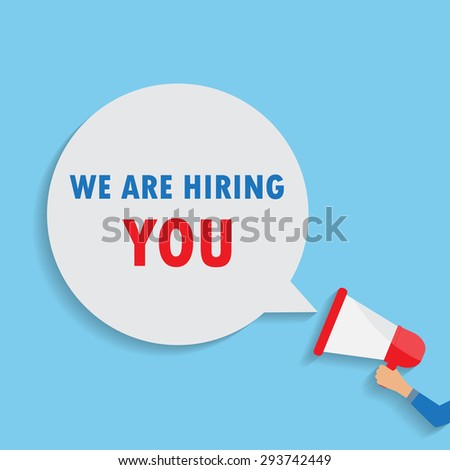 human resource or HR management  background. minimal style for job announcement . Can be used  vector illustration - stock vector