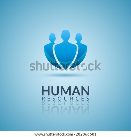 Human resource vector concept logo. Vector Illustration. - stock vector