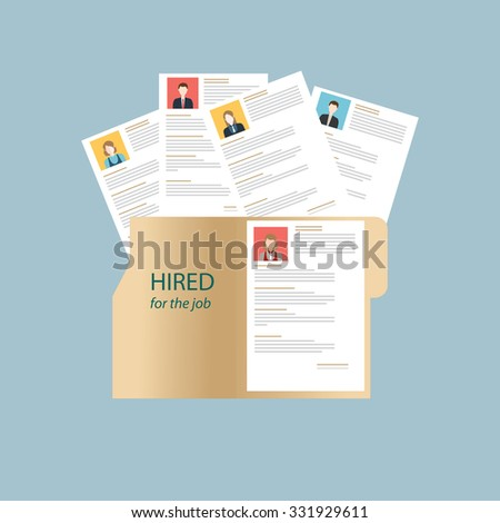 Human resources design over grey background, conceptual vector illustration. - stock vector