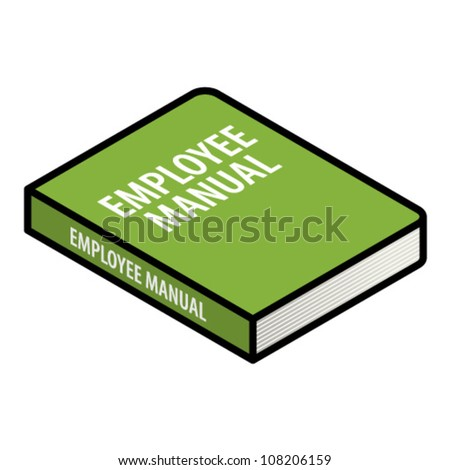 Human resources (HR) concept: an employee manual. - stock vector