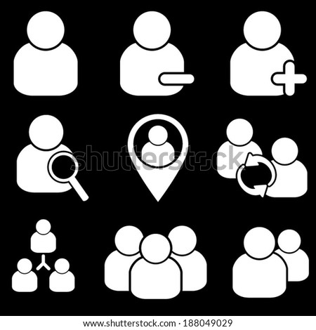 Human Resources Icons  - stock vector