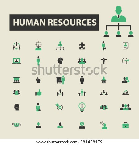 human resources icons, human resources logo, human resources vector, human resources flat illustration concept, human resources infographics, human resources symbols,  - stock vector