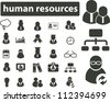 human resources icons set, vector - stock vector