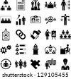 Human Resources Management icons - stock photo