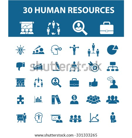 human resources, management, organization, avatar, users icons - stock vector
