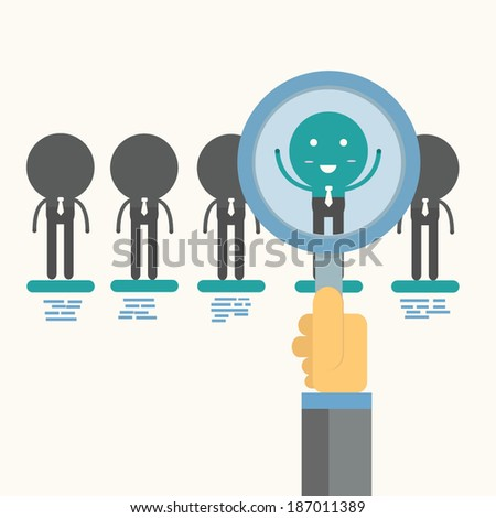 human resources management,vector,illustration. - stock vector