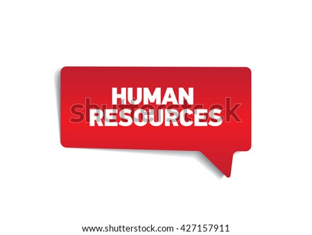 HUMAN RESOURCES on speech bubble