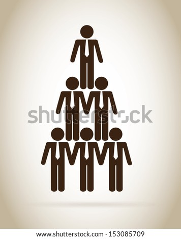 human resources over beige background vector illustration - stock vector
