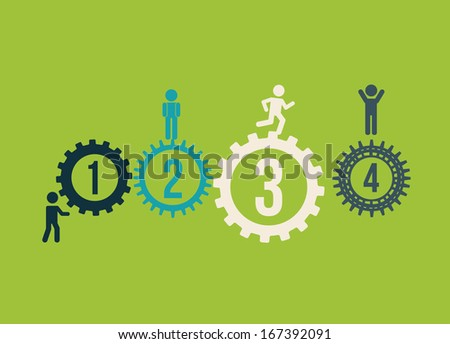 human resources over green  background vector illustration - stock vector