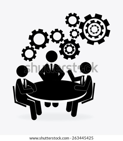 Human resources over white background design, vector illustration.