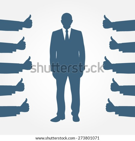 human resources recruitment hiring leadership businessman employment vector illustration - stock vector
