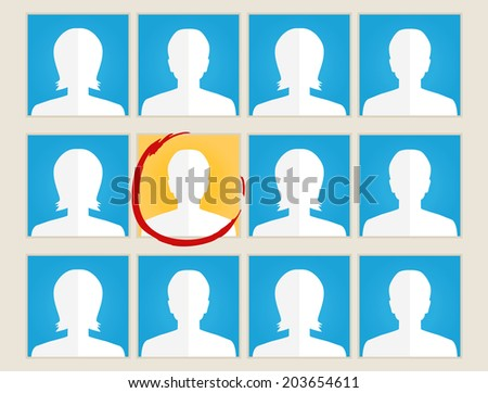 human resources search profiles concept - stock vector