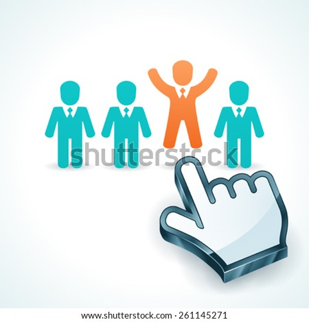 Human Resources-Stand Out From The Group Vector Concept - stock vector