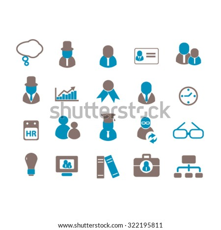 human resources, users icons - stock vector