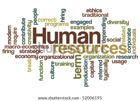 Human resources - Word Cloud - stock vector