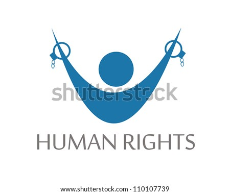Human Rights, vector symbol