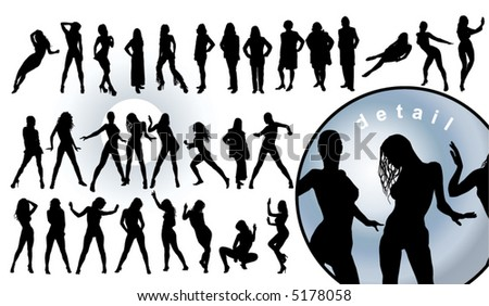 human silhouettes (vector illustration)