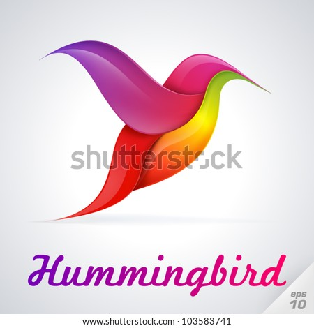 Hummingbird symbol. Vector Illustration - stock vector