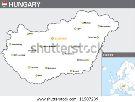 Hungary - stock vector