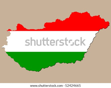 Hungary map - stock vector