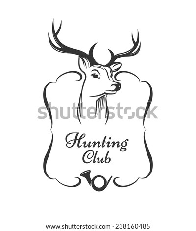 Hunting club badge - stock vector