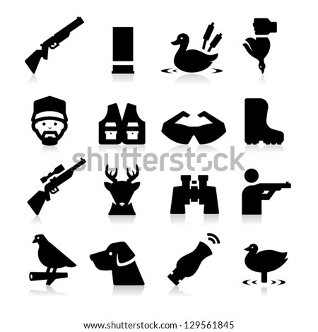Hunting Icons - stock vector
