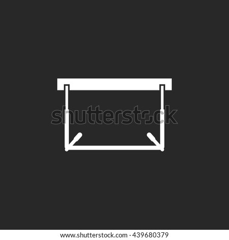 Hurdle Athletics sign simple icon on background - stock vector